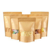 Kemasan Makanan Paper Craft (Standing Pouch, Window, Zipper) (14*20cm)