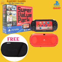 PS VITA SONY PlayStation Vita SLIM 2000 SUPER VALUE PACK RED LIMITED