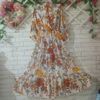 longdress import flowery/dress bunga big size/maxi dress/muslim dress