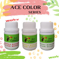 ACE COLOR - Pewarna Makanan Alami/Natural Powder Merah, Kuning & Hijau