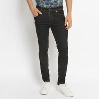 VENGOZ Celana skinny jeans pria - Black Wash
