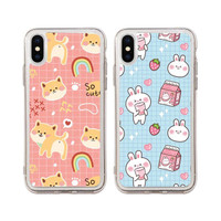 SOFTCASE DOG & RABBIT FOR IPHONE 6 6S 7 8 PLUS / CUTE CASE