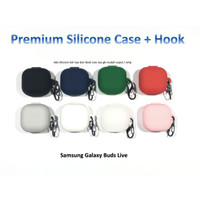 Samsung Galaxy Buds LIVE Premium Silicone Case with Hook Accessories