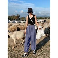 Celana Santai Panjang Style Longgar Korea Model Slim Bawahan Jogger - peach