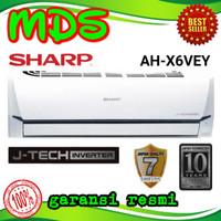 AC SHARP + PASANG INSTALASI 1/2 PK AH - X 6 VEY INVERTER R32