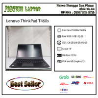 Lenovo ThinkPad T460s -Core i7-Gen6 - RAM 8 GB DDR4 -SSD 256 GB (NVme) - RAM 8-SSD 256