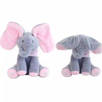 Mainan Boneka Stuffed Plush Gajah Cilukba Bahan Katun Pp Lembut Bisa B