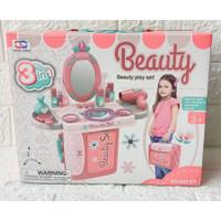 3IN1 Beauty Playset Mainan Make up Dandan Salon 008-973