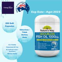 Nature's Way Odourless Fish Oil 1000mg 200 Capsules / Natures Way Fish