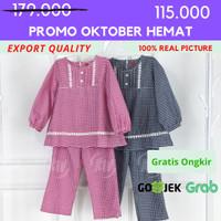 [4-12] Baju Tunik + Jilbab Anak perempuan Kualitas Export TO. 09 - 4, Merah Muda