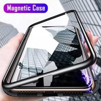 Realme C15 Magnetic Glass Premium Case 2in1 KACA DEPAN BELAKANG