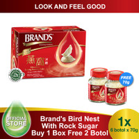 Brand's Bird Nest 70 Gr with Rock Sugar Extra 2 Bottles