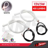 DRL LED Strip Angel Eye / Lampu Variasi Mobil / Motor 30cm - White