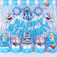 Set Paket balon frozen elsa anna ulang tahun pesta birthday dekorasi