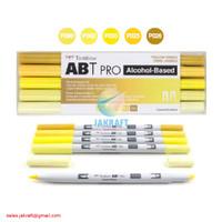 TOMBOW ABT PRO 5 Warna Yellow Blend Set Dual Brush Pen Alcohol-Based