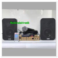 PAKET KARAOKE SOUND SYSTEM BLUETOOTH 4 INCH + 1 PCS MIC KABEL