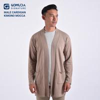 Sweater Rajut Gomuda Signature Male Cardigan Kimono - Khaki