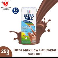 SUSU ULTRA LOW FAT RASA COKLAT 250 ML SATUAN