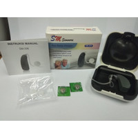 Hearing Aid Sammora SM 336 / Wireless / Selang Transparan / ABD SM-336
