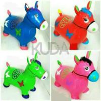 Mainan kuda Tunggang karet pompa