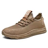 Vatto Flyknit Sepatu Original Import Sneaker Sport Running Lari Pria - Brown