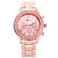 Jam tangan Wanita Geneva Stainless Rose Gold