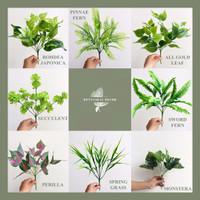 Daun Pakis Artifisial Tanaman Buatan Palsu Artificial Hijau Dekor Ruma - Succulent