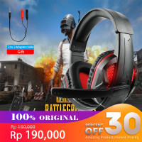 Wired Gaming Headphones Headset Deep Bass Stereo Wired Gamer Earphones