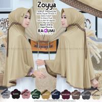 Hijab Instan Jumbo - Zoyya Serut Premium by Raqumi