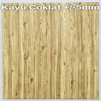 Wallpaper Dinding 3D 70 x 70 cm Foam Serat / Motif Kayu BB - 1