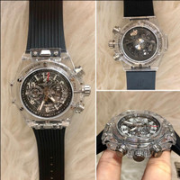 Jam Tangan Pria HubLot Mesin Japan Swiss Transparant Water Resist