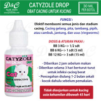 CATYZOLE DROP 30ML Obat Cacing Kucing