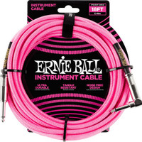 Ernie Ball 6083 18' Braided Straight / Angle Instrument Cable 5,49 m