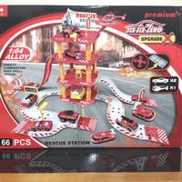 Mainan Anak Parking Lot Rescue Station Parking Lot Pemadam Kebakaran