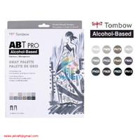 TOMBOW ABT PRO 12 Warna GREY Palette Dual Brush Pen Alcohol-Based
