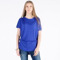 Kaos Lengan Pendek Wanita / Vershil Blue Tee 12016P9BL - 10PM