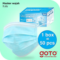 Goto Enviro 50 Pcs 3ply Facemask Masker Earloop Kesehatan