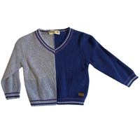 Plain Baby Sweater with V-Neck - MOEJOE