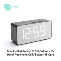 Inone Speaker Bluetooth Wireless with Alarm Clock FM Radio Portable