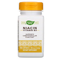 Nature's Way, Niacin, Vitamin B3, 100 mg, 100 Capsules