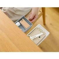 Rak Laci Tambahan Bawah Meja Under Table Drawer Storage Box