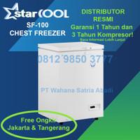Starcool SF-100 Chest Freezer Box Pintu Solid Low Watt