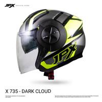 JPX X735 R Dark Cloud - Fluorescent Yellow Gloss