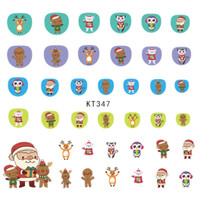 Cute Christmas Santa Ultra Thin Nail Sticker Stiker Kuku Anak KT347
