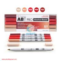 TOMBOW ABT PRO 5 Warna Red Blend Set Dual Brush Pen Alcohol-Based