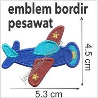 Emblem Bordir Pesawat Pesawat1