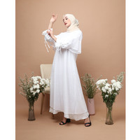 KNW Embroidery Broken White Lania Dress