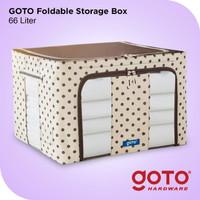 Goto Resli Storage Box 66L Double Zipper Frame Baja Large Besar