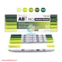 TOMBOW ABT PRO 5 Warna Green Blend Set Dual Brush Pen Alcohol-Based