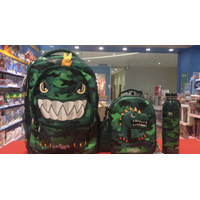 Smiggle Set Backpack + Lunchbox + Bottle Tas Ransel Anak Dino Original